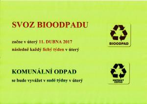 Svoz bioodpadu 2017